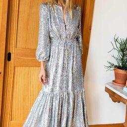 Frances Dress - Silver Sequin | Emerson Fry