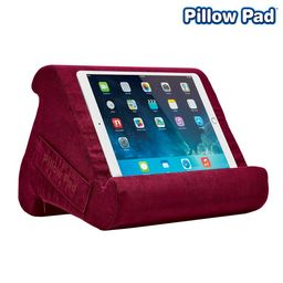 Pillow Pad Multi Angle Cushioned Tablet and iPad Stand, Burgundy, As Seen on TV | Walmart (US)