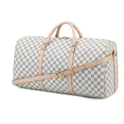 RICHPORTS Checkered Travel PU Leather Oversized Weekender Duffel Bag Overnight Handbag Gym Bag  f...   Walmart (US)