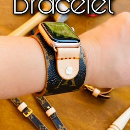LV  Apple, Fitbit and Samsung Galaxy Watch Bands Made from  Repurposed Bags With  Free Engraving.... | Etsy (US)