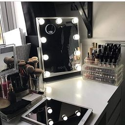 Hansong Hollywood Mirror with Light,Large Lighted Vanity Makeup Mirror,Smart Touch Control 3 Colo... | Amazon (US)