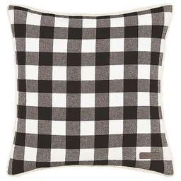 Eddie Bauer® Cabin Plaid Square Throw Pillow in Black | Bed Bath & Beyond