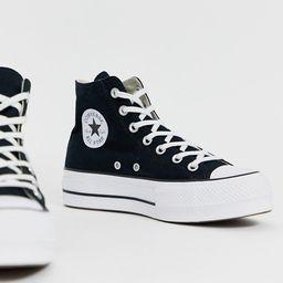 Converse chuck taylor hi platform black sneakers | ASOS (Global)