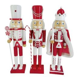 """Assorted 16"""" Red & White Nutcracker by Ashland® 