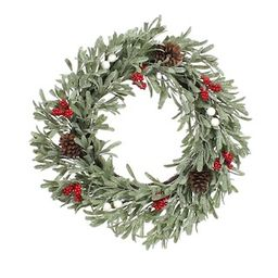 """24"""" Mistletoe, Berry & Pinecone Christmas Wreath by Ashland® 