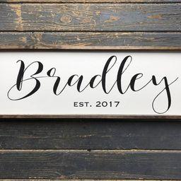 Last Name Sign   Family Name Sign   Wood Family Sign   Wedding Gift   Established sign    Wood Fr...   Etsy (US)