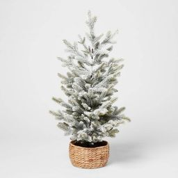 3ft Artificial Christmas Tabletop Flocked Tree - Threshold™ | Target