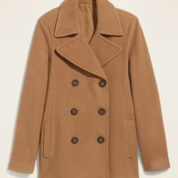 Soft-Brushed Peacoat for Women | Old Navy (US)