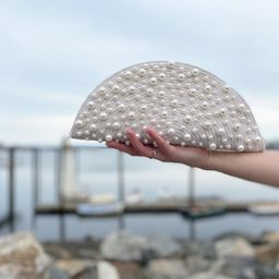 The coastal clutch - in pearl   Etsy (US)