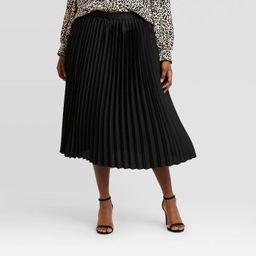 Women's Plus Size Pleated Skirt - Ava & Viv™ | Target