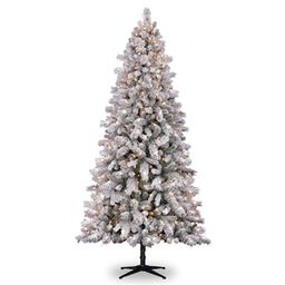 7.5ft. Pre-Lit Vermont Pine Flocked Artificial Christmas Tree, Clear Lights by Ashland® | Michaels Stores