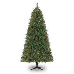 7ft. Pre-Lit Willow Pine Artificial Christmas Tree, Multicolor Lights by Ashland® | Michaels Stores
