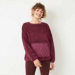 Women's High Pile Sherpa Pullover - JoyLab™   Target