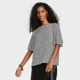 Women's Short Sleeve Essential Woven Blouse - A New Day™ | Target