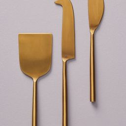 Set of 3 Streamlined Cheese Knives | Anthropologie (UK & EU)