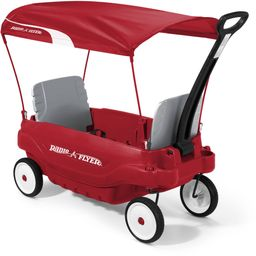 Radio Flyer, Deluxe Family Wagon with Canopy, Folding Seats, Red | Walmart (US)
