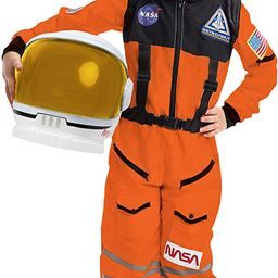 Astronaut NASA Pilot Orange Costume Movable Space Visor Kids Helmet Halloween. | Amazon (US)