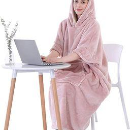 Waitu Wearable Blanket Sweatshirt for Working and Cooking, Super Warm and Cozy Big Blanket Hoodie... | Amazon (US)