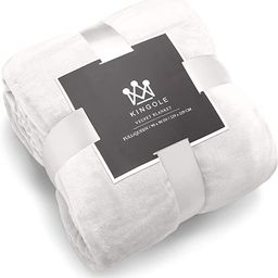 Kingole Flannel Fleece Microfiber Throw Blanket, Luxury Cream White Twin Size Lightweight Cozy Co... | Amazon (US)