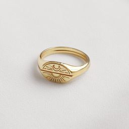 Sun & Moon Gold Ring Set | Wanderlust + Co