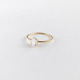 Pear Topaz Gold Sterling Silver Ring | Wanderlust + Co