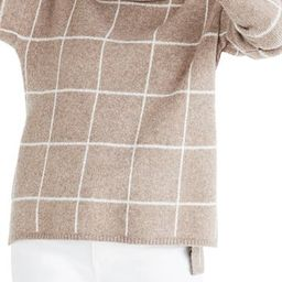 Windowpane Turtleneck Sweater | Nordstrom Rack