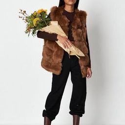 Brown Pelted Faux Fur Vest | Missguided (US & CA)