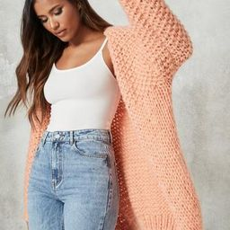 Stone Hand Knit Cardigan | Missguided (US & CA)