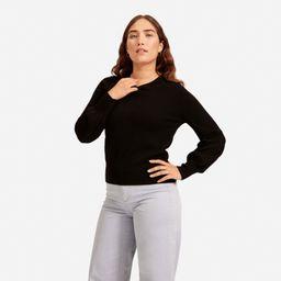 Women's Cashmere Lantern Sweater by Everlane in Black, Size XS   Everlane