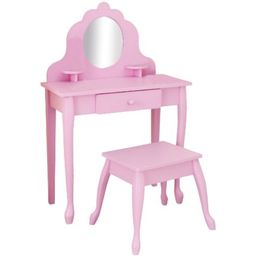 kidkraft medium diva table and stool, pink | Walmart (US)