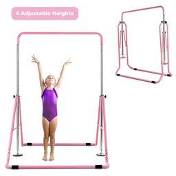 Costway Expandable Gymnastics Training Bar Adjustable Junior Horizontal Kip Bar Foldable | Walmart (US)