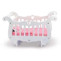 Melissa & Doug White Wooden Doll Crib With Bedding (30 x 18 x 16 inches)   Walmart (US)