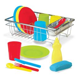 Melissa & Doug Let's Play House! Wash & Dry Dish Set | Walmart (US)
