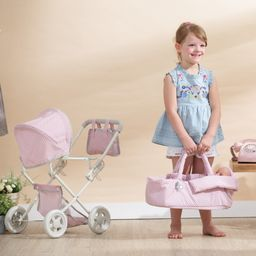 Olivia's Little World - Polka Dots Princess Baby Doll Deluxe Stroller - Pink & Grey   Walmart (US)