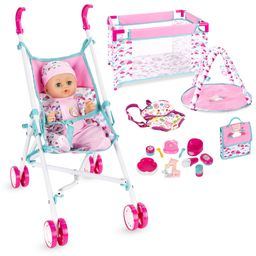 Best Choice Products Kids 15-Piece 13.5in Newborn Baby Doll Nursery Role Play Playset w/ Stroller...   Walmart (US)