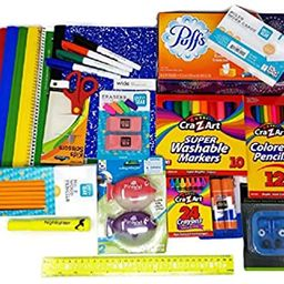 Back to School Supplies Bundle with Tissue, Markers, Pencils, Sharpeners, Crayons, Erasers, Glue ...   Amazon (US)