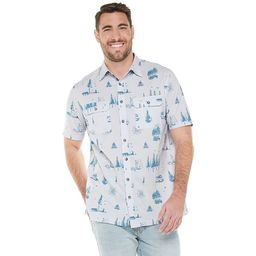 Big & Tall Croft & Barrow® Classic-Fit Plaid Quick-Dry Dobby Button-Down Shirt   Kohl's