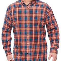 The Foundry Supply Men's Classic Fit Long Sleeve Flannel Shirt Orange Plaid   Amazon (US)