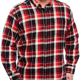 The Foundry Supply Men's Classic Fit Long Sleeve Flannel Shirt Red Black Plaid   Amazon (US)