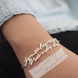 Handwriting Bracelet • Custom Actual Handwriting Jewelry • Signature Bracelet • Memorial Pe... | Etsy (US)