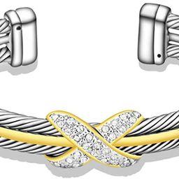 UNY Fashion Jewelry Brand Cable Wire Retro Antique Bangle Elegant Beautiful Valentine | Amazon (US)