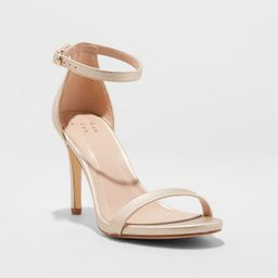 Women's Gillie Microsuede Stiletto Heeled Pump Sandals - A New Day™   Target