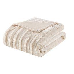 """50""""x60"""" York Long Faux Fur Throw Blanket   Target"""