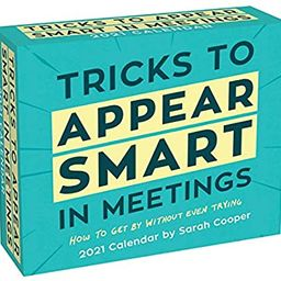 Tricks to Appear Smart in Meetings 2021 Day-to-Day Calendar   Amazon (US)