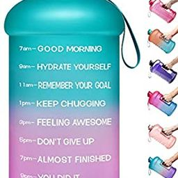 Venture Pal Large 128oz Leakproof BPA Free Fitness Sports Water Bottle with Motivational Time Mar...   Amazon (US)
