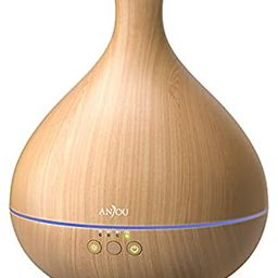 Essential Oil Diffuser, Anjou 500ml Cool Mist Humidifier Wood Grain Aromatherapy Diffuser with 7 ...   Amazon (US)