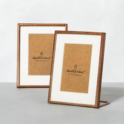 Set of 2 Antique Finish Metal Frames Copper - Hearth & Hand™ with Magnolia | Target