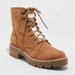 Women's Tessie Sherpa Lace Up Hiking Boots - Universal Thread™   Target