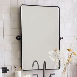 Vintage Rounded Rectangle Pivot Mirror | Pottery Barn (US)