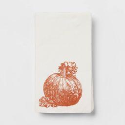 16pk Paper Pumpkin Print Dinner Napkins Orange - Threshold™   Target